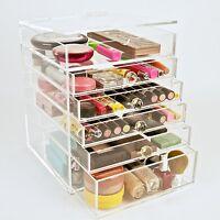 Clear Acrylic Makeup Organizer Cosmetics Storage Beauty Cube Makeup Case