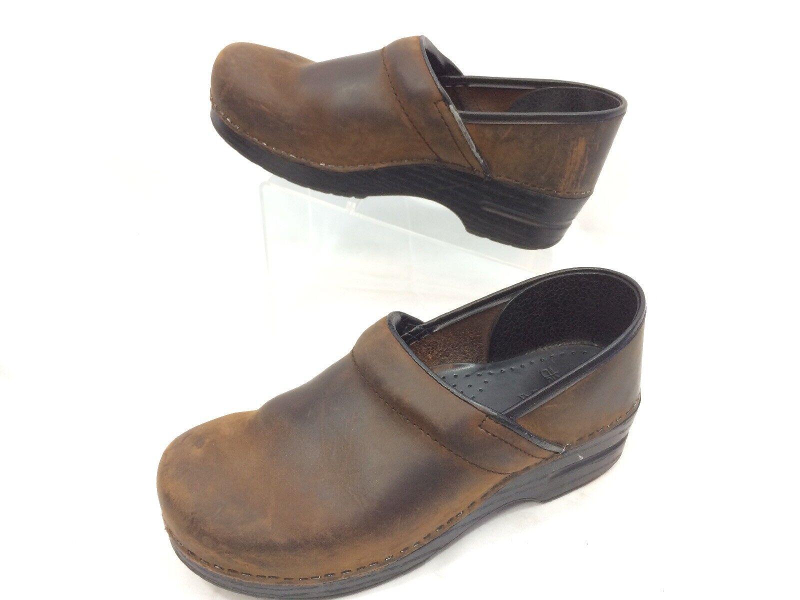Dansko Danish Clogs Size 40 US 9.5 - 10 10 - Slip On Brown Shoes 33716f