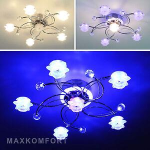 Das Bild Wird Geladen Deckenlampe Lara Lampe Deckenleuchte Leuchte Wohnzimmerlampe Chrom Glas