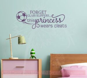Image Is Loading This Princess Wears Cleats Soccer Wall Decals Vinyl