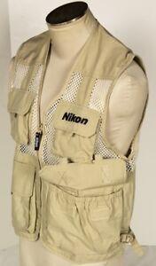 Official-Nikon-Photo-Vest-Jacket-Woman-Size-M-D800-D5200-D600-Body-Kit-Clothing