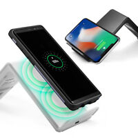 Spigen Wireless [F303W] Charging Stand For iPhone X,Galaxy 8 (White/Black)