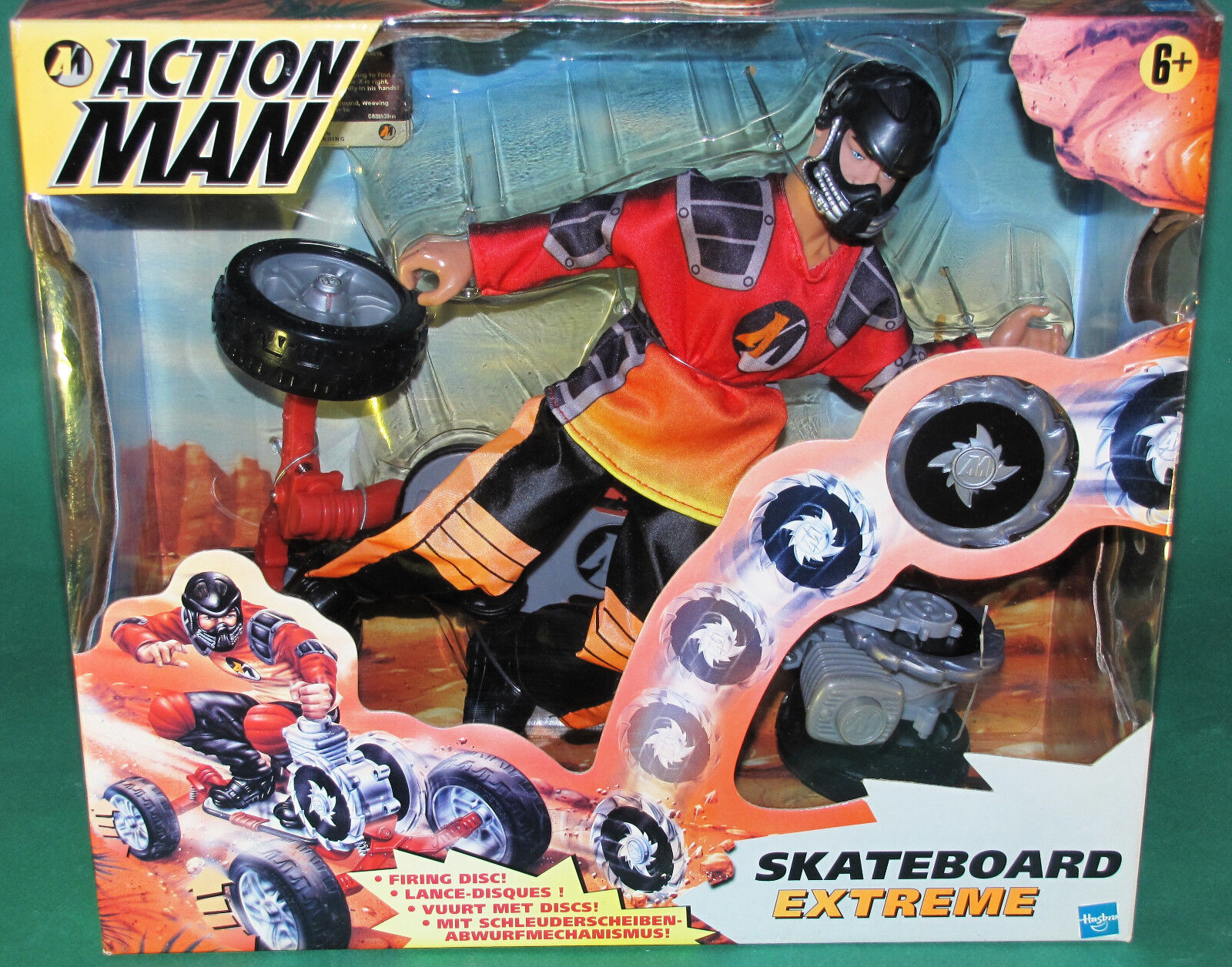 Muy Raro Original 12  pulgadas hombre Patineta Extreme de acción sin Usar, En Caja Hasbro 1999