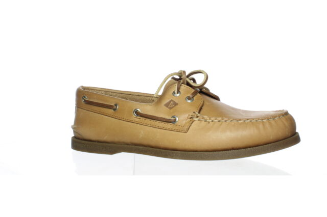 Sperry Top Sider Mens A/O 2-Eye Nutmeg Boat Shoes Size 10.5 (3E) (1584184)