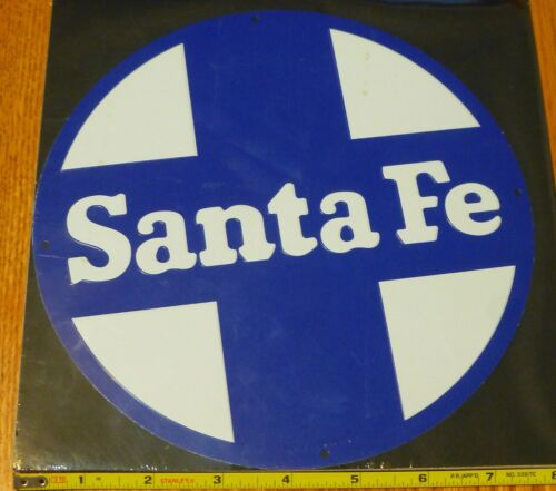 Microscale Metal Sign #10038 Santa Fe (Die Cut, Embossed Metal Sign)
