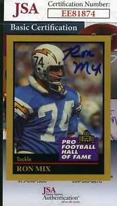 Ron Mix 1991 Enor Hall Of Fame Jsa Coa Hand Signed Authentic Autograph