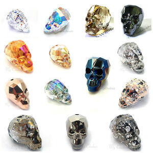 204d3657c01d6 Details about ALL COLOUR Genuine Swarovski 5750 19mm SKULL Crystal Beads  *Pick Colour & Qty*