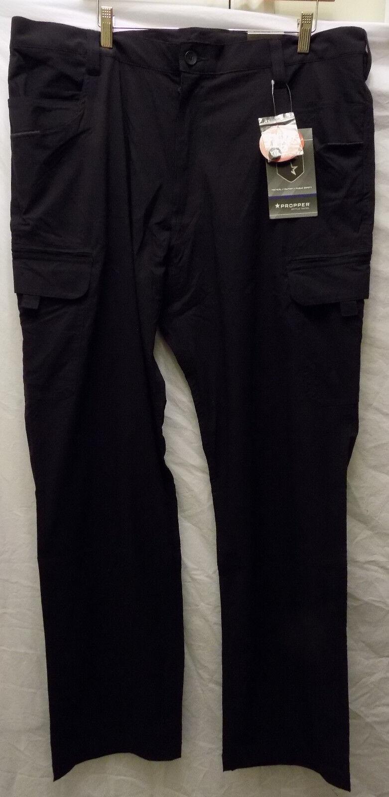 40 x 34 Propper Summerweight Tactical Nylon Spandex Pants Ripstop LA NAVY blueE