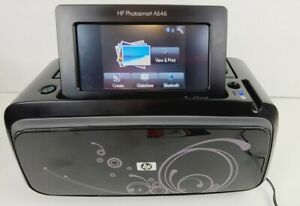 HP Photosmart Compact/Travel Digital Photo Inkjet Bluetooth Printer A646 + Bag