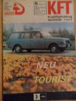 KFT KRAFTFAHRZEUGTECHNIK 10/1967 5* Wartburg Tourist UAS-452 KRAS 256 Omnibusse