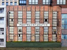 * O Scale Scratch Built Industrial #6 Factory Building Front/Flat, MTH Lionel*