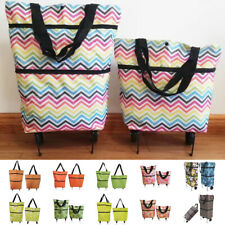 Portable Folding Fabric Shopping Cartbagtrolley With Wheels For Grocery Travel