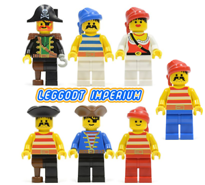 Lego-Pirate-Minifigures-Pirates-1-vintage-minifigs-red-beard-FREE-POST