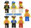 Lego-Pirate-Minifigures-Pirates-1-vintage-minifigs-red-beard-FREE-POST miniature 1