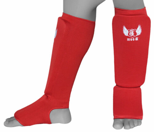 BOOM Shin Instep Pads MMA Leg Foot Guards Muay Thai Kick Boxing Guard Protector