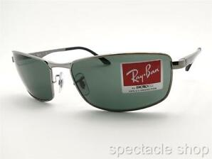 Ray Ban 3498 004/71 Gunmetal Green Authentic Sunglasses