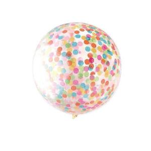 Clear-Big-36-034-Giant-Multi-Coloured-Confetti-Filled-Latex-Balloon-Decoration