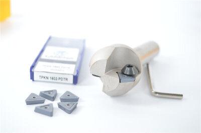 45° Chamfering drill tool holder TP45 C20-40-120 Straight shank for TPMN 1603