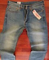 Levi's 505 Straight Leg Jeans Men Size 36 X 36 Distressed Wash