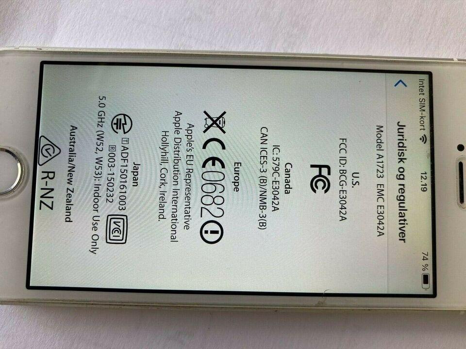 iPhone SE, 64 GB, aluminium
