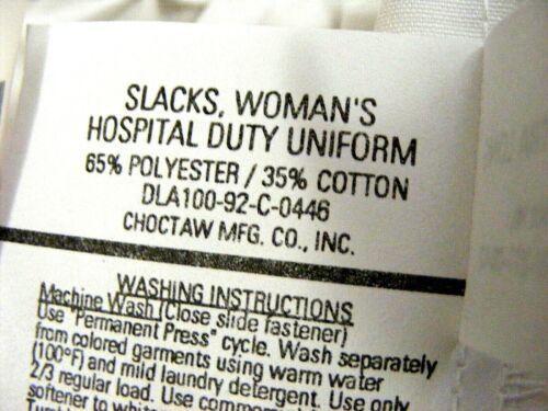 "white hospital bottoms 34/""inseam,tall,large 6 Nurse SCRUB PANTS,womans 14 Long"