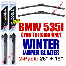 WINTER Wipers 2-Pack Premium Grade - fit 2011-2016 BMW 535i GT - 35260/190