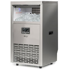 Commercial Ice Maker - 99lb/24 Hours - 33lb Storage - Stainless Steel Finish