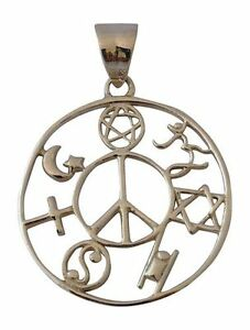 Coexist silver pendant ebay image is loading coexist silver pendant aloadofball Images