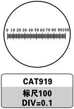 Micrometer Eyepiece Calibration Slide w/ 100 Graticules f/ Microscope USB Camera