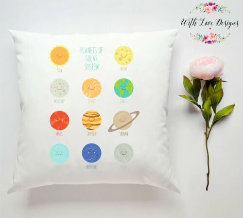 PLANET SOLAR SYSTEM UNIVERSE PERSONALISED CUSTOM PILLOW CUSHION PRESENT GIFT