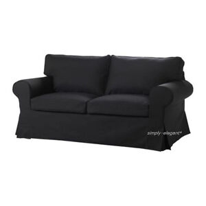 IKEA COVER for Ektorp Loveseat 2 seat Sofa Slipcover Idemo Black New sealed