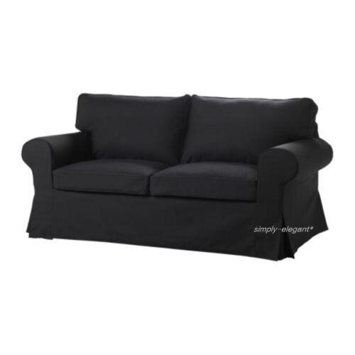 Idemo Black New sealed IKEA COVER for Ektorp Loveseat  2 seat  Sofa Slipcover