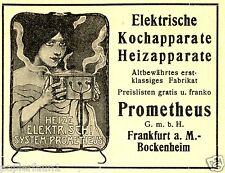 Prometheus Herd Ofen Kochtopf Bockenheim Reklame 1912 kochen Frankfurt Köchin ad