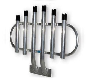 Fishing rod rack 6 holder truck solid aluminium bumper for Fishing pole rack for truck