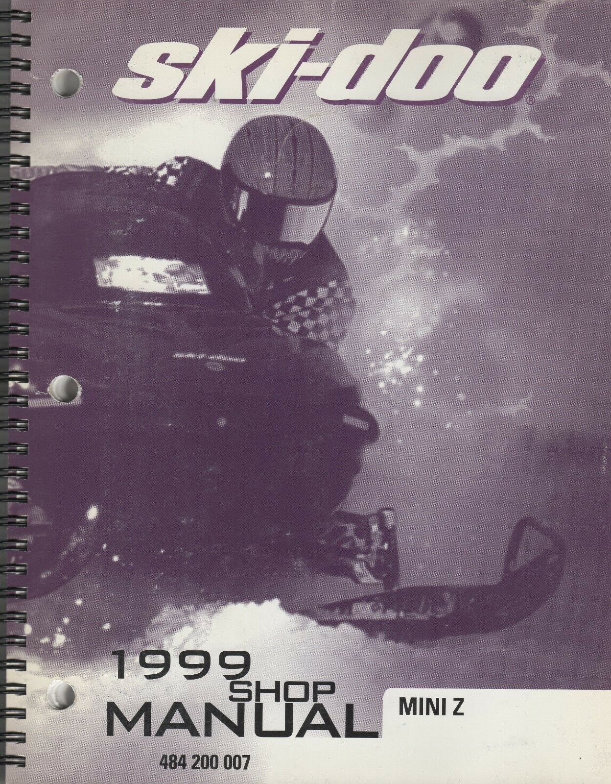 1999 SKI-DOO SNOWMOBILE MINI Z  SHOP MANUAL 484 200 007 (154)