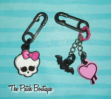 MONSTER HIGH GHOUL'S GOT CHARM COLLECTIBLE JEWELRY CHARMS SAFETY PIN LOT OF 2