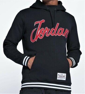 Jordan Sportswear Hockey Pullover Hoodie New Mens Cotton Black Red  BQ5180-010