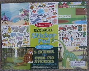 Details About Melissa Doug Habitats Reusable Sticker Pad See Damage