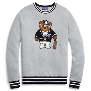 5b042ebf35 Ralph Lauren Purple Label Bear Leather Sweatshirt Sweater Polo Fleece  pwctub22879-Jumpers & Cardigans