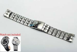 Stainless-Band-Strap-Bracelet-For-SWATCH-Irony-James-Bond-007-Retrograde-Watch