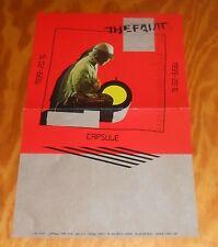 The Faint Capsule 1999-2016 Poster Promo Original 11x17