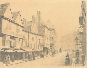 John Shelton - 20th Century Graphite Drawing, Cheapside