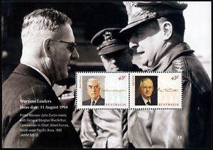 1994-Wartime-Leaders-Prime-Ministers-Minisheet-ANZAC-Stamps-Mint-Australia
