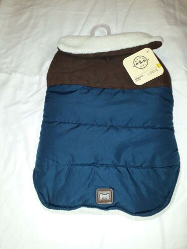 Bond /& Co Teal and Brown Faux Leather Yoke Wrap Jacket for Dog