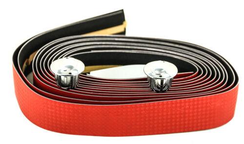 Triathlon Bike Handlebar Tape Bar Plugs NEW Orbea Faux Red Carbon Road