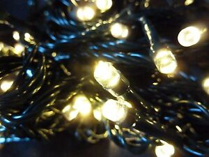 big sale b1a55 40eab Details about Christmas Tree Fairy Lights 50 Warm White Xmas Indoor Outdoor  Battery Timer LED