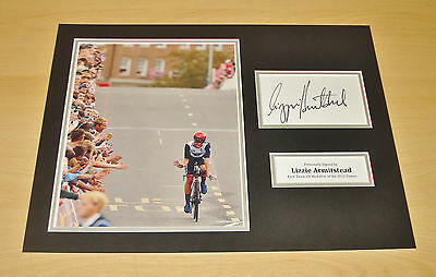 Sports Memorabilia Autographs Coa Fine Workmanship Lizzie Armitstead Signed 16x12 Photo Display Genuine Autograph London 2012