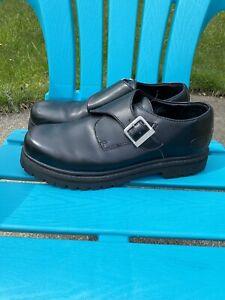 Skechers-CASUALOFFICE-Shoes-Mens-Size-13M-Black-Leather-Monk-Strap-Oxford-SN6649
