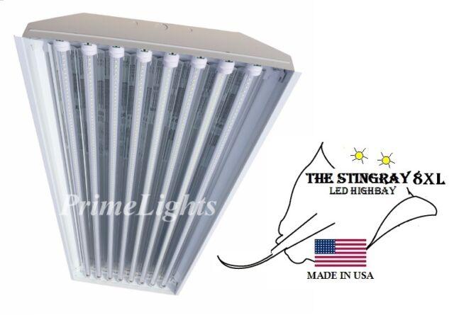 Warehouse 8 Lamp T8 LED High Bay 176Watt Commercial Light NEW BRIGHT Shop