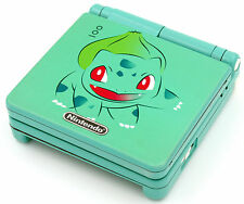 Custom Printed & Sprayed Bulbasaur Pokemon SP Nintendo Game Boy Advanced SP